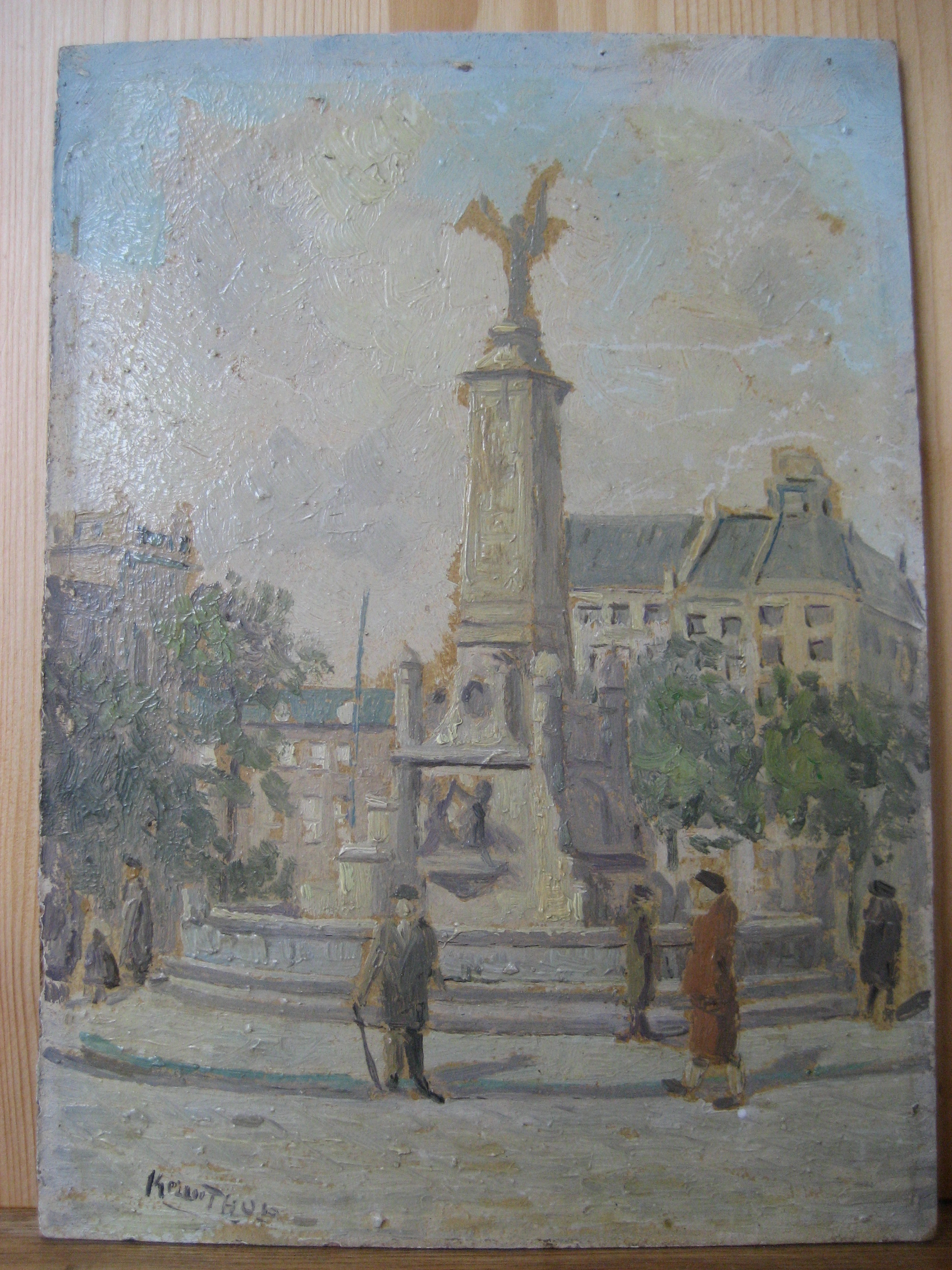Antiquariaat Supplement, beeld & boekwerken, Caland monument